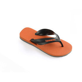 havaianas Max Sandales Enfant, steel grey/neon orange
